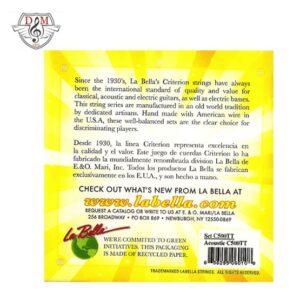 سیم گیتار c500 tt la bella گیتار آکوستیک موزیک دلشاد