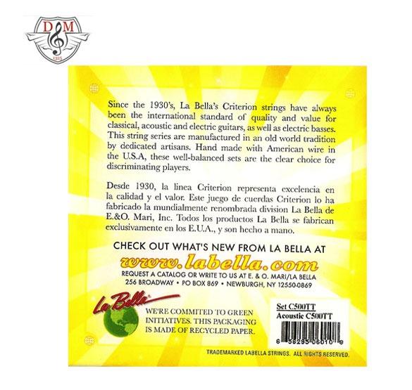 سیم گیتار آکوستیک La Bella-C500TT